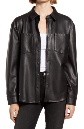 Faux Leather Shirt $89