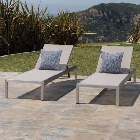 Christopher Knight Home 296862 Outdoor Aluminum Chaise Lounge