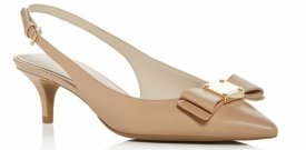 Cole Hann Tali Bow Slingback Kitten Heel Pumps $105.00