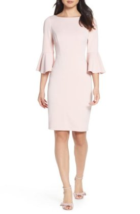 Bell Sleeve High Neck Dress