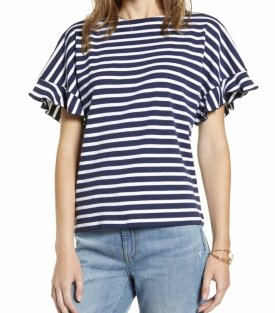 Rachel Parcell Back Bow Stripe Tee $55.00