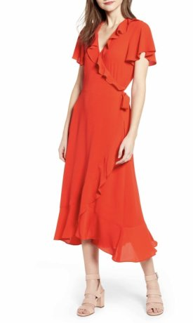 Chelsea28 Ruffle Wrap Dress