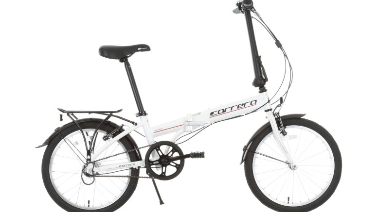 Side view of the Carrera Transit folding bike
