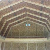 12x16x13 7'sidewalls Barn #2 Inside
