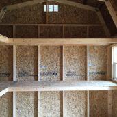 10x12x11 7'sidewalls Barn #1 Inside