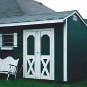 8x12x10 7'sidewalls Garden Shed