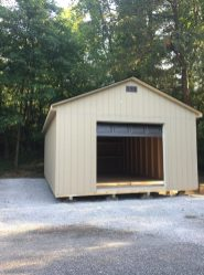 16' wide a frame with garage door