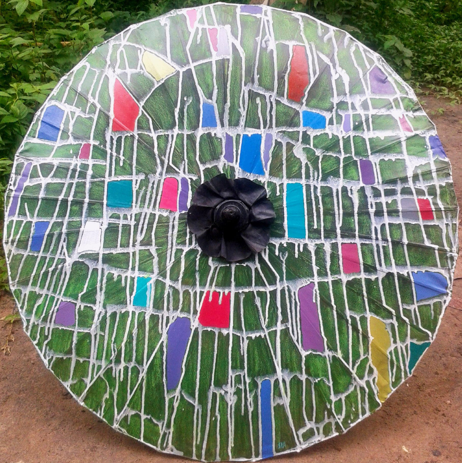 Abstract parasol by  Artist SNA, Pansodan Scene