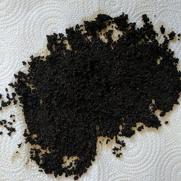 Drying used coffee grounds
