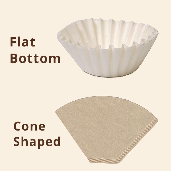 Flat Vs Cone coffee filters