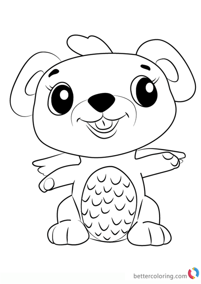 Mouseswift From Hatchimals Coloring Pages Free Printable