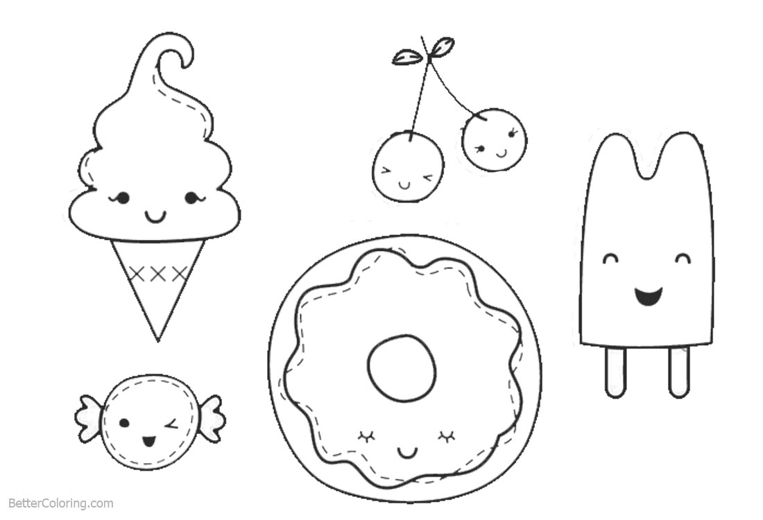 Cute Food Coloring Pages For Kids Novocom Top