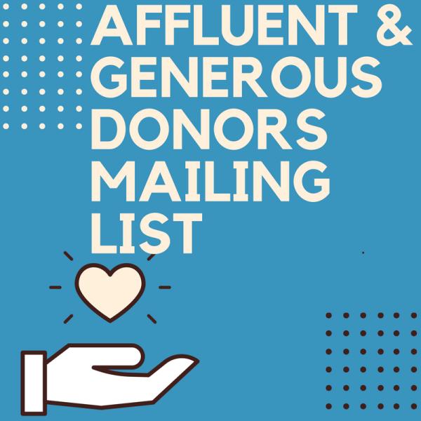affluent donors list