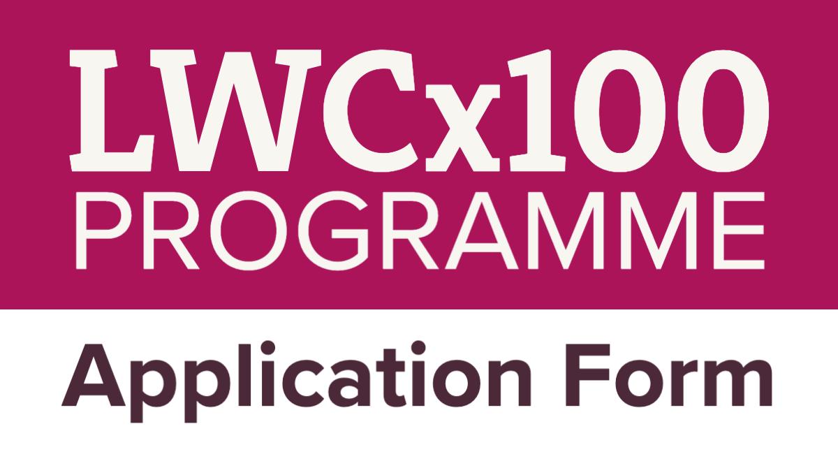 LWCx100 Application Form   Better Conversations