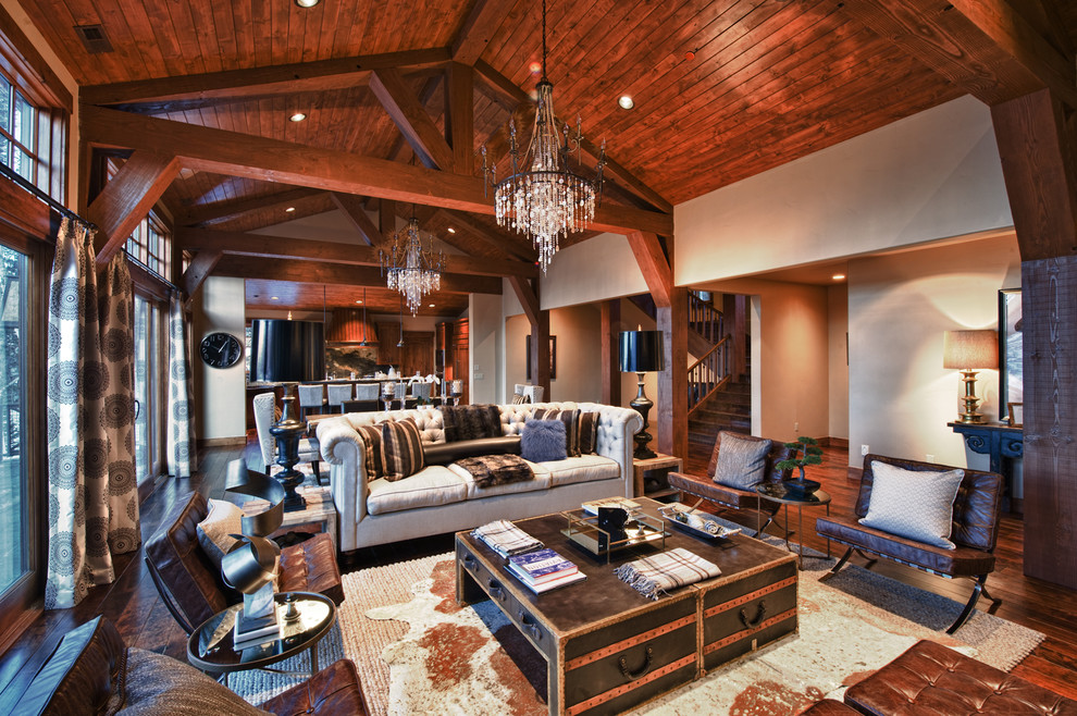 How to Makeover Your Living Room with Modern Rustic ... on Rustic Traditional Decor  id=32169