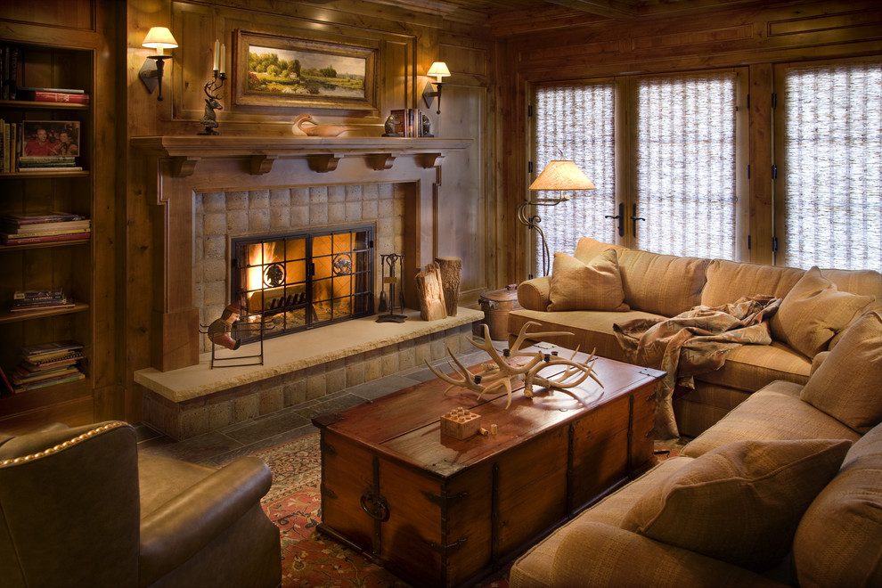 Get Cozy! - A Rustic Lodge Style Living Room Makeover ... on Rustic Traditional Decor  id=75486
