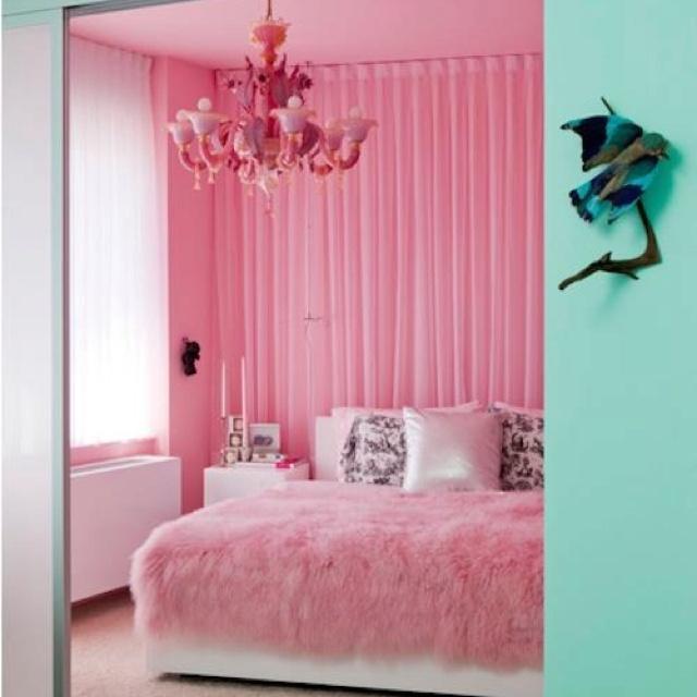 Bedrooms Pink And Black Polka Dot