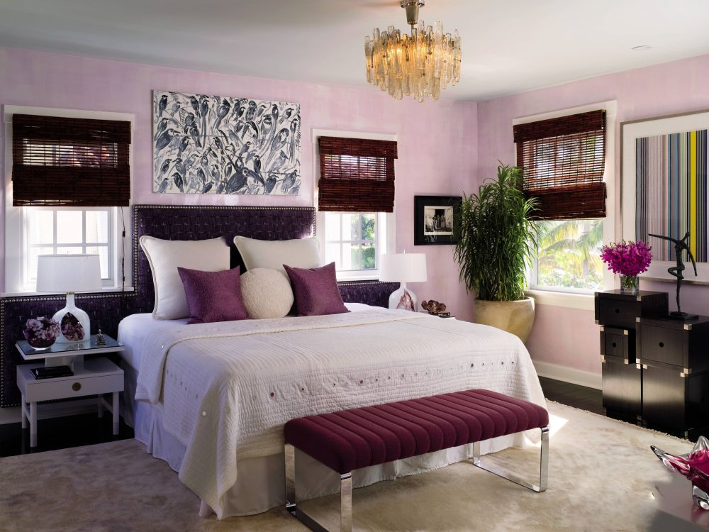 Purple Pink Violet Bedroom White Decorating Studded