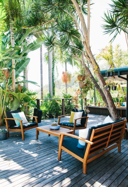tropical outdoor patio BetterDecoratingBible | Home, Interior Design, Interior