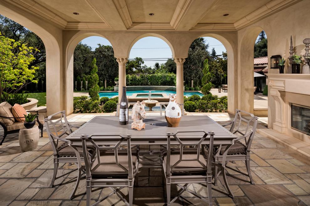 Home Tour: Modern Mediterranean Beauty in San Gabriel ... on Small Mediterranean Patio Ideas id=29189