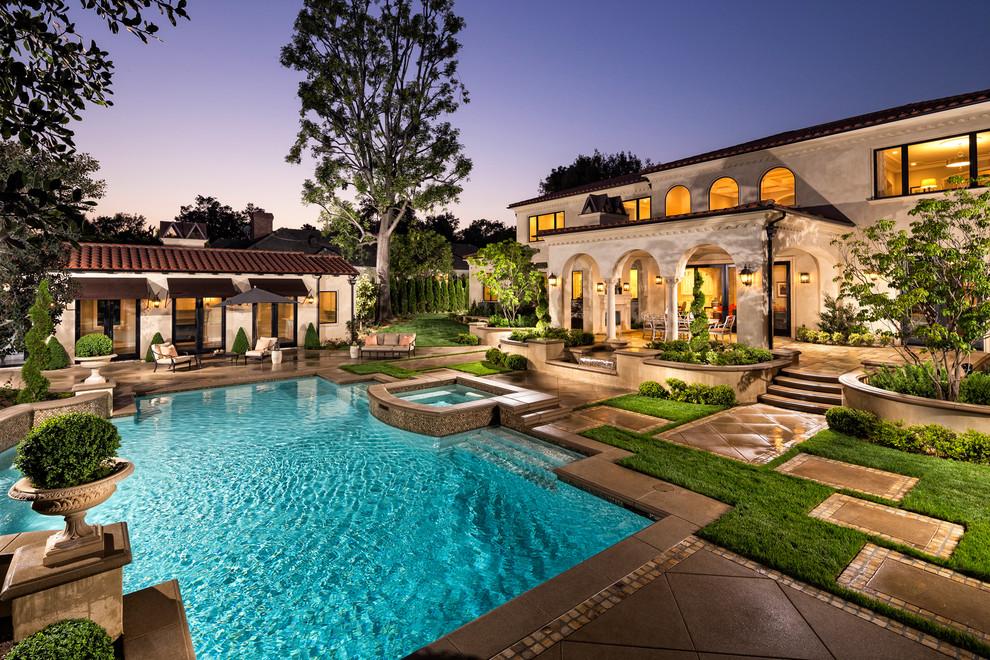 Home Tour: Modern Mediterranean Beauty in San Gabriel ... on Mansion Backyard Ideas id=51401
