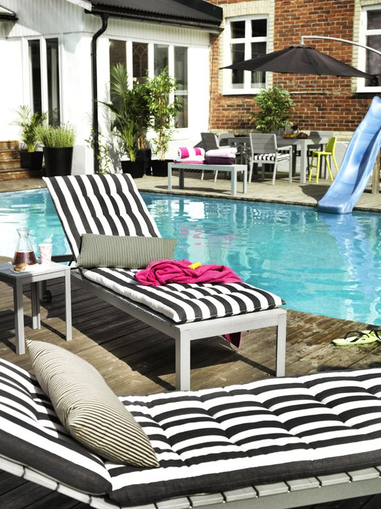 7 Trendy Deck Decorating Ideas for Spring + My Monochrome ... on Black And White Backyard Decor  id=32123