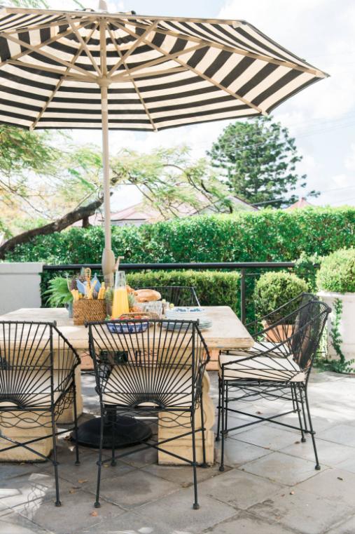 Why You Should Love a Fabric Like Sunbrella ... on Black And White Backyard Decor  id=25266