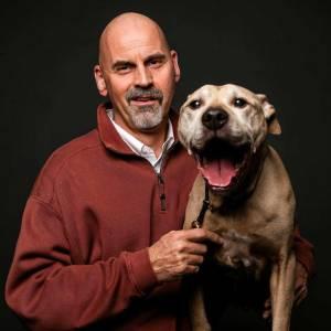 Doug Poynter with his dog Rocky