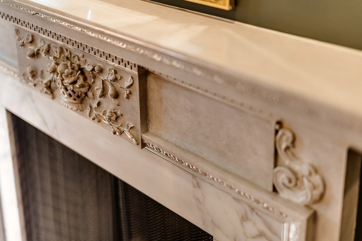 37 Edgehill Road - Marble Fireplace Detail