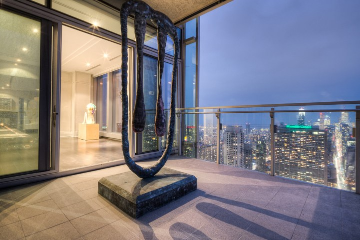 #5002 - 50 Yorkville Avenue - Balcony with Sculpture