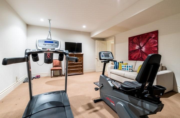 88 Wychwood Park - Basement Fitness Room