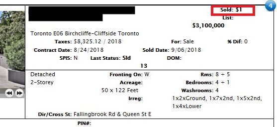 Toronto Real Estate Board Reminds Agents They Shouldn't Give Fake Sold Info