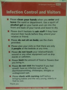 St George's infection control poster