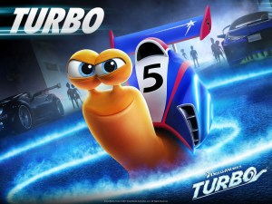 Turbo film poster of racing snail