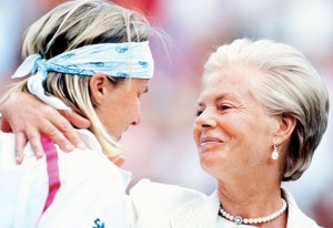 Jana Novotna and the Duchess of Kent in 1993