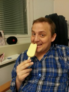 George eating a Magnum