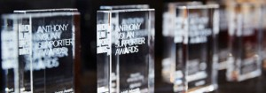 Anthony Nolan Supporter Awards trophies