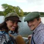 George and Mariacristina by a lake in the Cotswolds