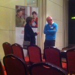 George talking to Professor Chris Bunce
