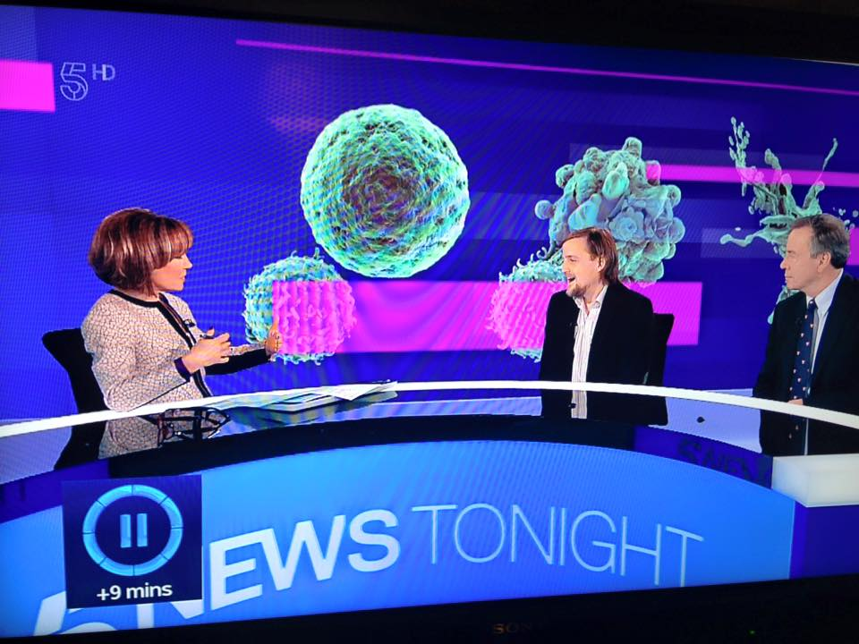 George on 5 News with Sian Williams and Dr John Gribben
