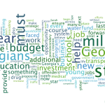 What was he talking about? A Gov. Deal word cloud