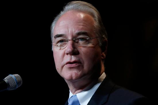 Rep. Tom Price, R-Ga., speaks at the Christians United for Israel Washington Summit in Washington, Tuesday, July 23, 2013. (AP Photo/Charles Dharapak)
