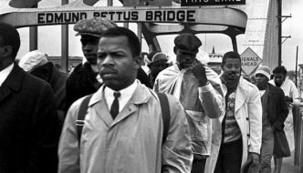 Rep. John Lewis overcame violence in march for voting rights