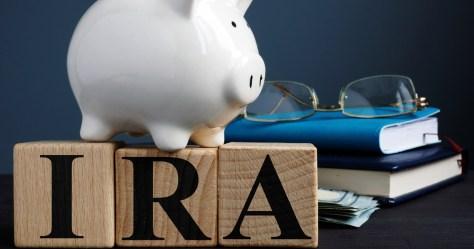 piggy bank on blocks spelling IRA