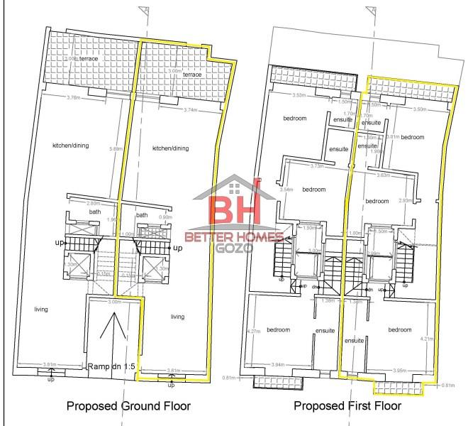 ground & first floor plans