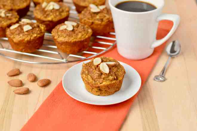 Almond Flour Apple Muffins with Pumpkin
