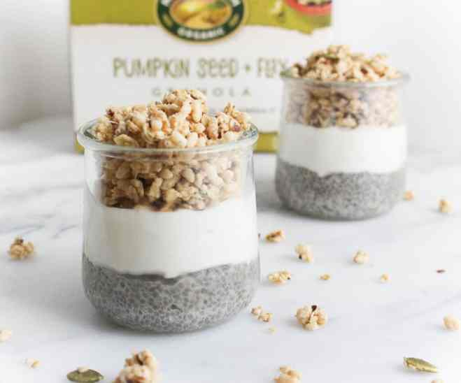 Vanilla Maple Chia Yogurt Parfait by Julie Harrington