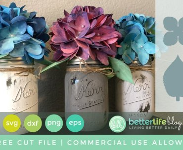 (Free Cut File) Paper Hydrangea Bouquets Using Cricut Explore or Silhouette Cameo