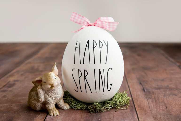 Cricut Farmhouse Easter Egg