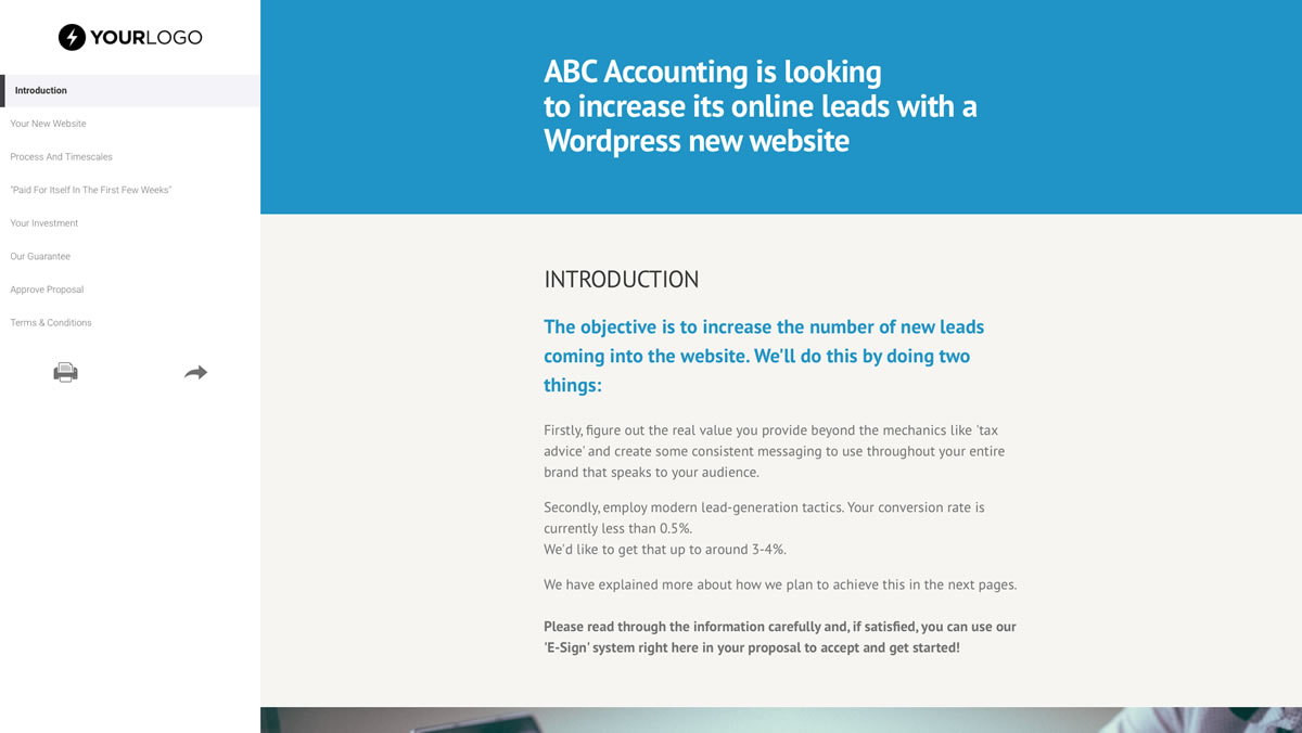 This template empowers you to communicate your web design pricing, qualifications, and terms. This Free WordPress Website Design Proposal Template Won 155m Of Business